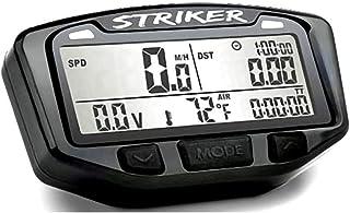 Trail Tech 712-114 Black Striker Speedometer Digital Gauge Kit with Volt Meter