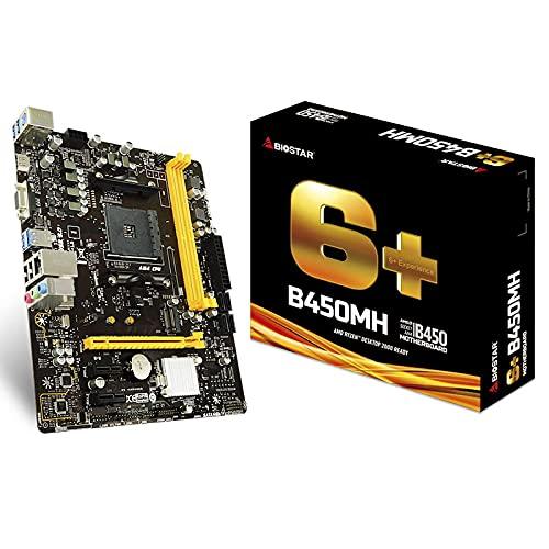 LALAHO La Placa Base B450MH es Compatible con el procesador Dragon III y Seis Placas de Juego para Juegos