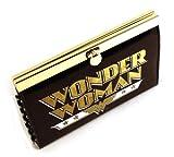 Wonder Woman Deluxe Negro del marco del monedero del metal