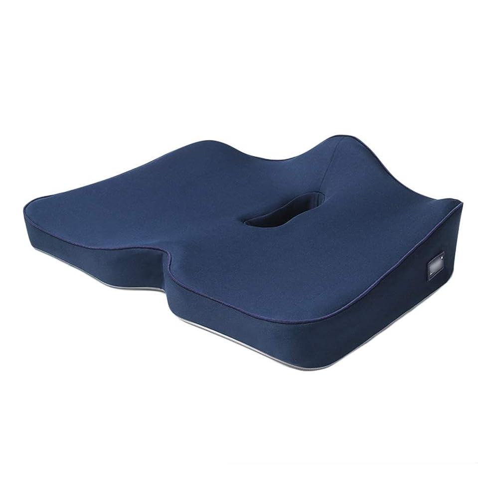 指定ストレス例示する枕パッド 尾骨と坐骨神経痛を和らげるために長期の座りがちな人々のための尾骨サポートパッド高品質記憶綿 (Color : Blue, Size : 46*40*9cm)
