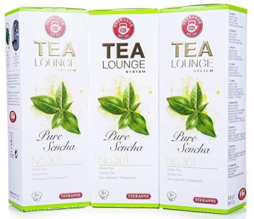 Teekanne Tealounge Kapseln - Pure Sencha No. 301 Grüner Tee (3x8 Kapseln)