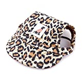 shenjin Party Costume Puppy Canvas Sports Sun Hat Baseball Caps Dog Caps Dog Supplies for Owner and Lovely Pet(Leopard Print S)