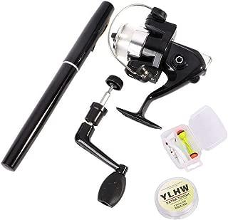 Portable Pen Fishing Rod Reel Combo for Kids,39 Inch Mini Travel Pocket Fishing Rod Set,Telescopic Aluminum Alloy Fishing Pole Fishing Line and Fishing Lures