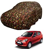 Sarte Car Cover for Maruti Suzuki Alto 800/ Alto K10 Without Mirror & Antenna Pocket (Jungle Print)