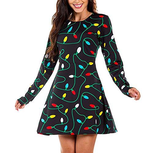 Vestido De Fiesta De Navidad De La Mujer, Vestido De Oscilación Vestido De Fiesta del Copo De