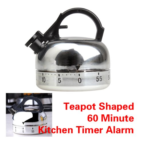 lzn Kessel Mechanische Eieruhr Kurzzeitmesser Edelstahl mit Stoppuhr 1-60 Minuten Küchenhelfer
