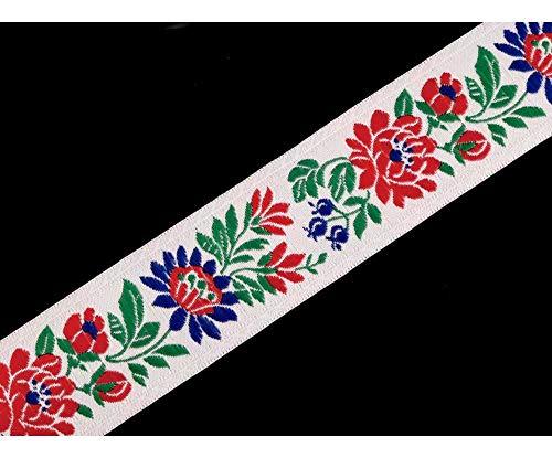5m Weiß Trachtenborte Breite 35mm, Trachtenbänder, Besatzbänder, Trachtbänder Und Paspelbänder, Kurzwaren
