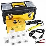 MRCARTOOL Equipo de Soldador de Plástico para Reparación de Parachoques de Automóviles, Grapadora Eléctrica de Pistola de Soldadura de Plástico 220V con 700 Grapas