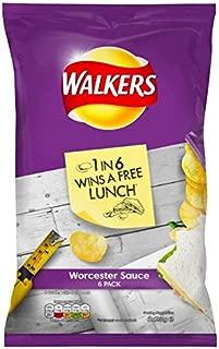 Walkers Worcester Sauce Crisps 6 x 25g