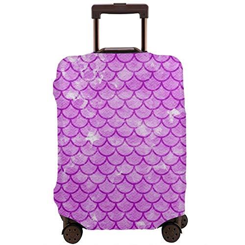 Teery-YY Funda protectora para equipaje de viaje con diseño de sirena, de 18 a 32 pulgadas, con cremallera, lavable, elástica, para adolescentes, niños, niñas, hombres y mujeres