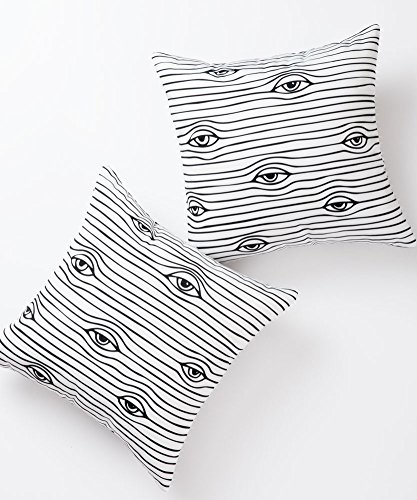 Pantaknot Eyes Decorative Throw Pillow Covers Set of 2 Abstract Art Pillowcase Cushion Home Dcor, 18 x 18 Inch