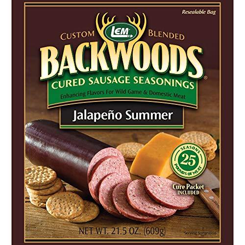 LEM Backwoods Cured Sausage Seasoning with Cure Packet, Jalapeno Summer Sausage
