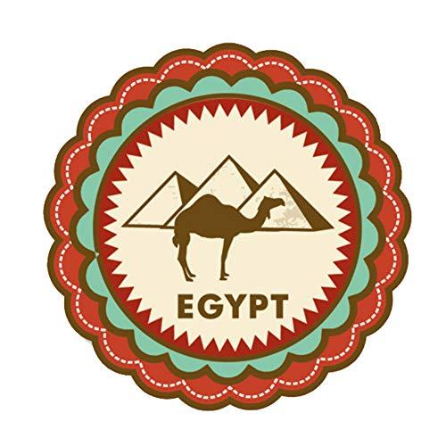SUIFENG Aufkleber 13Cm X 13Cm Ägypten Kairo Weltstadt Pyramide Reise PVC Motorrad Auto Aufkleber