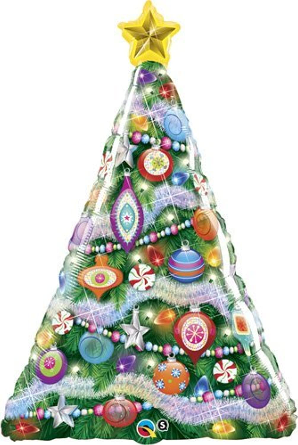 Single Source Party Suppies - 39  Christmas Tree Shape Mylar Foil Balloon