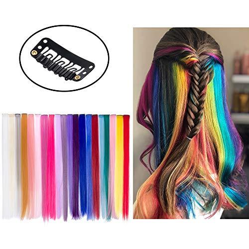 Beauty7-20 Clip in/on Extensions Haar Stähnen Strähnchen Haarverlängerung Haarteil Perücken 50cm - alle 20 Farben