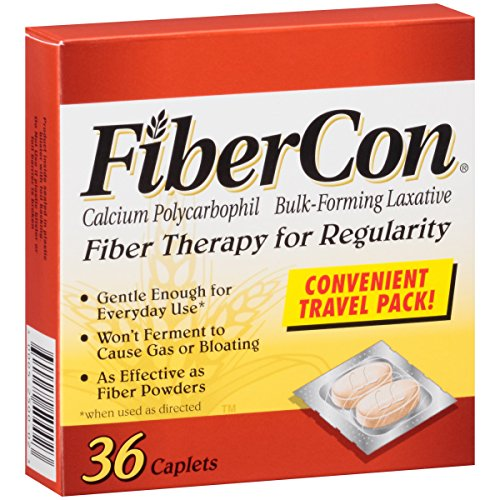 Fibercon Fiber Therapy for Regularity with Calcium Polycarbophil (36-Count Caplets)