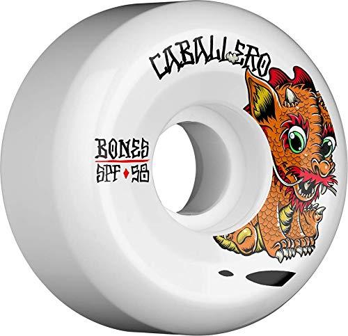 Bones Wheels Bones Caballero Baby Dragon 58mm 104A-P5 Sidecut Skateboard-Räder, weiß, 58 mm