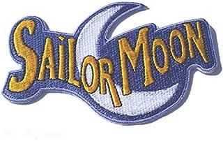 Sailor Moon Logo Patch Embroidered Iron on Badge Applique Costume Magic Retro Cosplay DIY