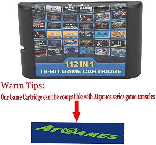 Entrega gratis 112 en 1 para Sega Megadrive Genesis Game Cartridge Incluye Contra Gunstar Heroes de FLORATA