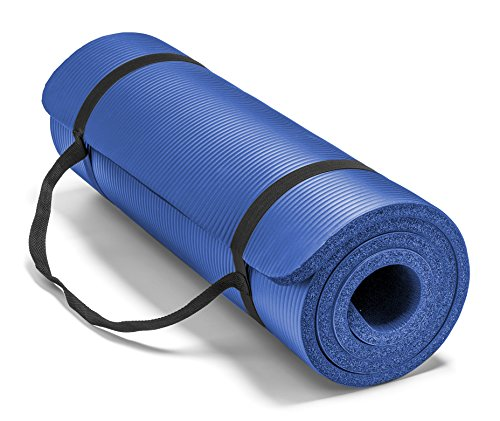Spoga, Premium 5/8-inch Extra Thick 71-inch Long High Density Exercise Yoga Mat with Comfort Foam (Blue)