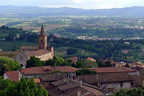 ING Wall Art Print on Canvas(32x21 inches)- Perugia Panorama Church Santa Giuliana Umbria