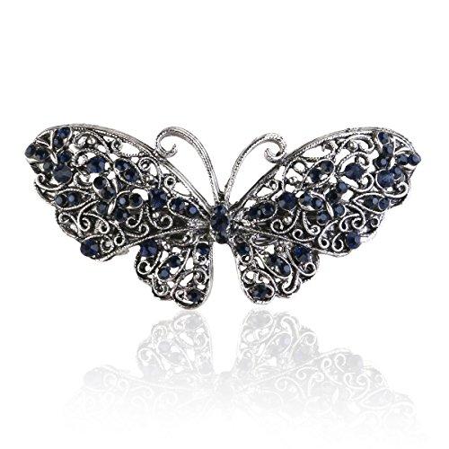 ROSENICE Strass Schmetterling Haarspange Haarklammer Haarschmuck Haarclip Haar-Accessoires
