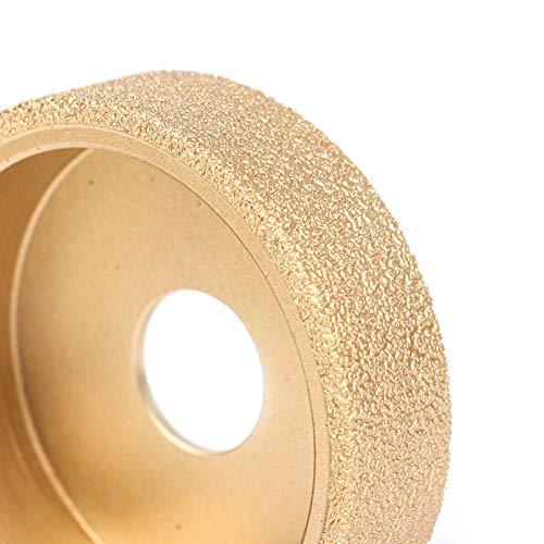 LiQinKeJi8 Muela 1pc Bore 20mm Dia 3InCH / 75MM Vacuum seco Diamante Soldado Rueda de molienda Demi-Bullnose Edge Perfil Disco de molienda para pulir (Color : Roman Column 10mm)
