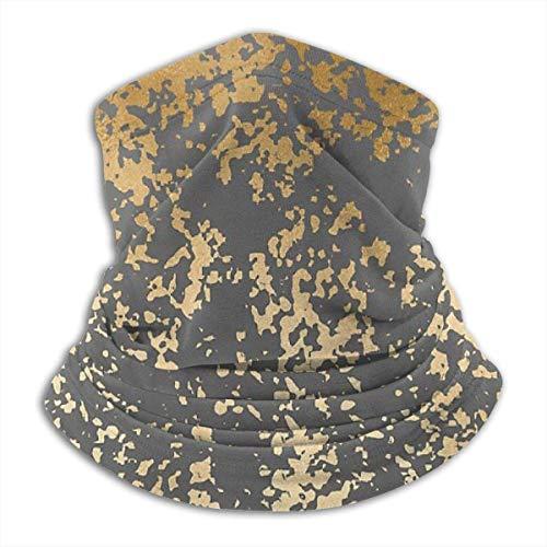 brandless Face Mask Modern Gold Look Ski Mask Hat Neck Gaiter Headwear for Women Men