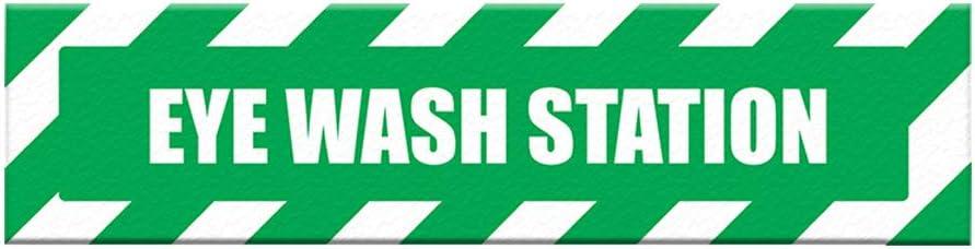 San Jose Mall Emergency Eye Wash Floor Decals Anti-Slip Lowest price challenge Green Long Sha Station