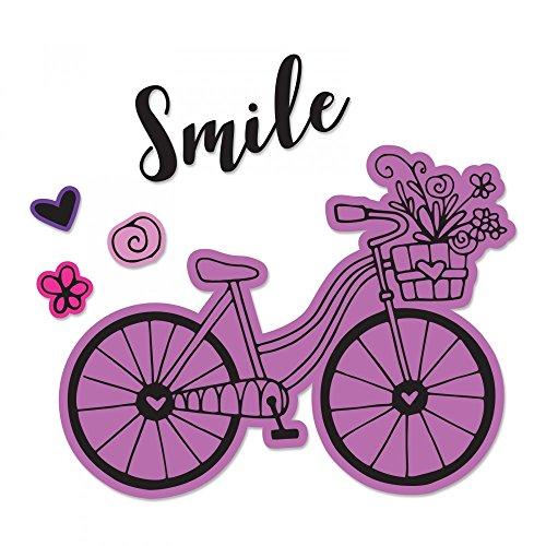 Sizzix 662908 Fahrrad 2 von Katelyn Lizardi Stanzschablone, Mehrfarbig, Eine Größe