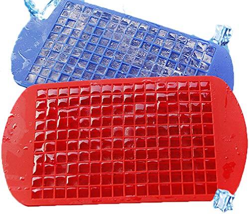 LNHOMY Mini-Eiswürfelform, flexibel, stapelbar, für Whiskey, Saft, Salat, Eiswürfel, 2 Stück