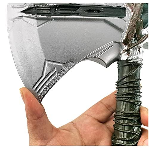 MOMAMOM Hacha De Thor Marvel Legends Martillo Juguete Axe Avengers Stormbreaker Mjolnir Cosplay Prop Víspera de Todos los Santos El Arma de Thors Brithdays Gift 53cm PU