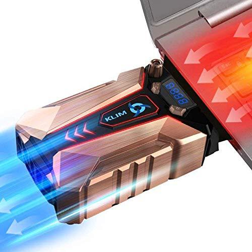 KLIM Cool + Notebook-Kühler aus Metall - Der Stärkste - Vakuum USB für Sofortige Kühlung - Cooler Ständer Kühlpad Gegen die Überhitzung [ Neue 2021 Version ]