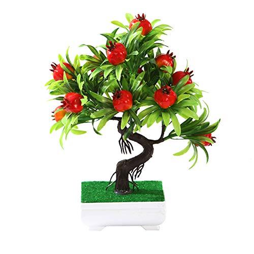 Dragonaur 1 Stück künstlicher Obstbaum im Topf Miniascape Bonsai Obstpflanze echt Touch Kunstpflanze Hochzeit Party Home Schreibtisch Bonsai-Dekor 3#