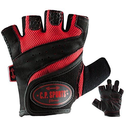 C.P. Sports Lady-Gym - Fitnesshandschuh XS rot, Damen Trainings Handschuhe für Frauen