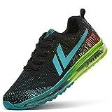 Air Zapatillas de Running para Hombre Mujer Zapatos para Correr y Asfalto Aire Libre y Deportes Calzado(B Azul,42 EU)