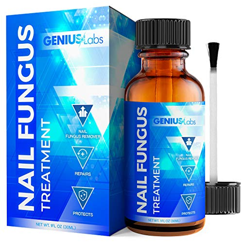GENIUS Nail Fungus Treatment - Fungal Repair For Thick Toenails, Fingernails & Toenails, Repairs and Protects from Discoloration, Solution For Brittle and Cracked Nails 1oz