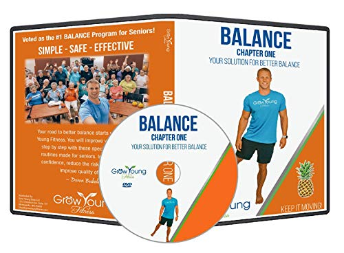 Grow Young Fitness Balance Exercises for Seniors - Better Balance DVD - Simple Safe Effective Balance Workout DVD for Elderly + Two Bonus Stretch Routines