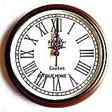 Nautical gift Reloj de pared de madera del mundo del reloj de latón estilo antiguo único 12 pulgadas