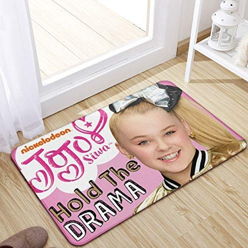 4060 cm JoJo Siwa Pattern Flannel Water Absorption Anti-Skid Door Mats Bedroom Kitchen Bathroom Floor Shower Mat Rug
