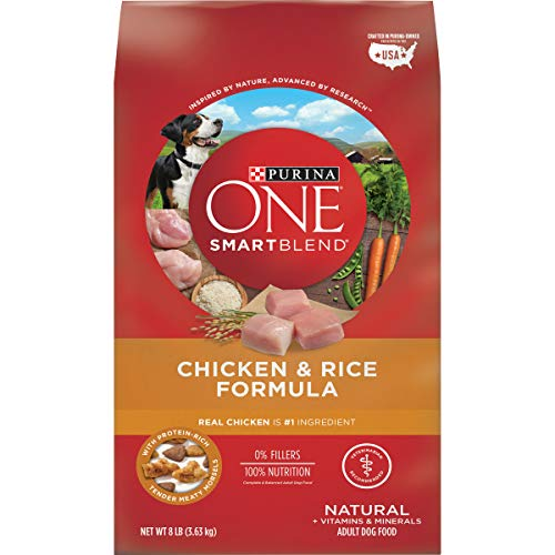 Purina ONE Natural Dry Dog Food, SmartBlend Chicken & Rice Formula - 8 lb. Bag