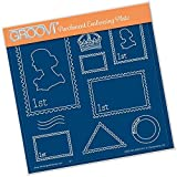 Clarity Stamps Groovi Parchment Embossing A5 Plate - Postage Stamps -