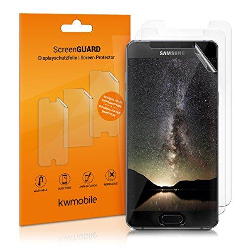 kwmobile 3X Schutzfolie kompatibel mit Samsung Galaxy A5 (2016) - Folie klar - Bildschirmschutzfolie Bildschirmschutz transparent Bildschirmfolie