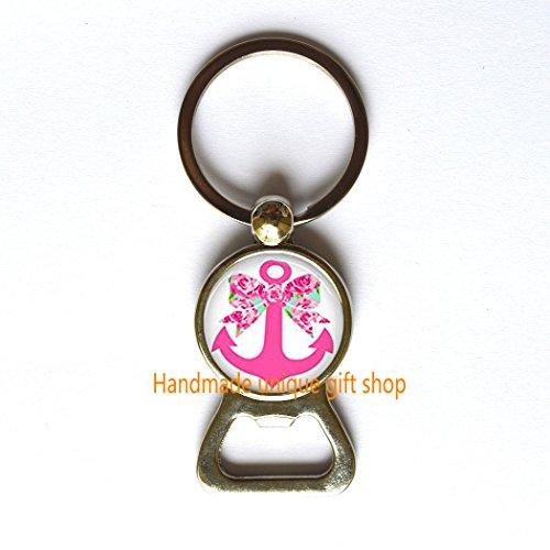 Modern Fashion Bottle Opener Keychain,Beautiful Bottle Opener Keychain , Inspired Bow and Anchor Bottle Opener Keychain, Lilly Bottle Opener Keychain, First Impression Bottle Opener Keychain, Anchor a