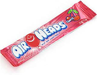 Airheads Candy, Individually Wrapped Full Size Bars for Halloween, Cherry, Bulk Taffy, Non Melting, Party, 0.55 Ounce (Pack of 36)