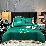 juego de fundas de edredón 135x200cm-Xiabei European Silk King doble cama cama individual cama individual cama individual cama individual cama individual cama individual-Di_1,8 m de cama (4 piezas)