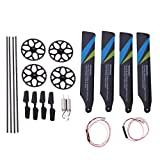LoveinDIY 2X Metal Motor 4X Tail Rotor Balde 4X Gears for XK K124 RC Helicopter Parts