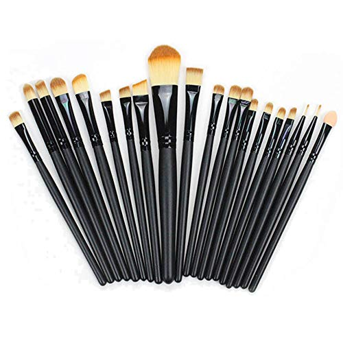 UINGKID Pinceaux Maquillage Professionnel 20 pièces Pinceaux pour liquide Poudre crème Fusion de fond de teint Concealer Eye visage Synthétique Pinceaux de maquillage