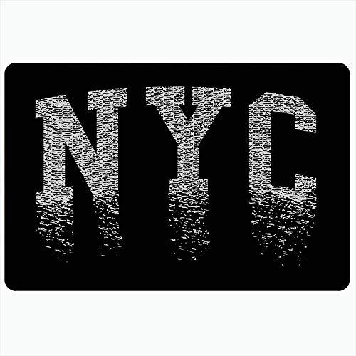LIS HOME Badteppich für Badezimmer rutschfeste Matten New Stamp York Apparels City Typografie Team Grafik Sporthemd Beste Uni Erholung Vintage Plüsch Dekor Fußmatte rutschfeste Rückenmatte