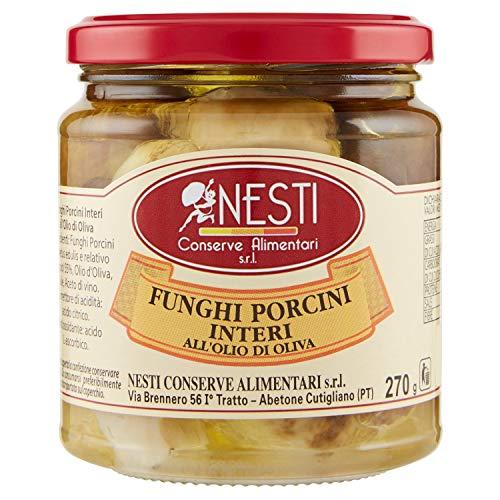 Nesti Conserve Alimentari Funghi Porcini Interi all' Olio di Oliva - Pacco da 6 X 270 g